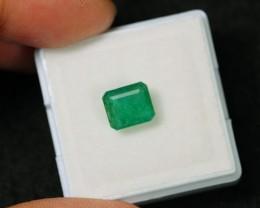 1.86ct Green Zambian Emerald Stone