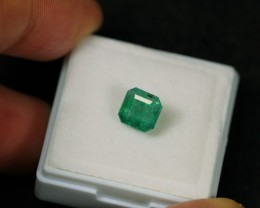 1.72ct Green Zambian Emerald Stone