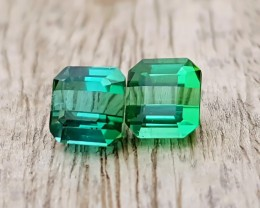 NR 2.70 Ct Natural Blue & Green Transparent Tourmaline Gemstone Pairs