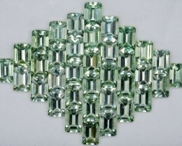 126.88 Cts Natural Prasiolite / Green Amethyst 11x8 mm Octagon 36 Pcs