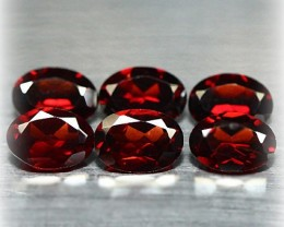 6 PIECE PARCEL OF GLOWING Mozambique Garnets