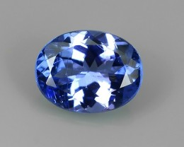 1.02 CTS MIND BOGGLING NATURAL RICH FIRE  BLUE COLOR TANZANITE NR!!!