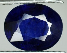 3.46 Cts Blue Sapphire Oval Cut Madagascar - Fissure Filled