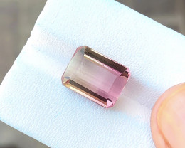 7.40 Ct Natural Bi Color Transparent Tourmaline Gem