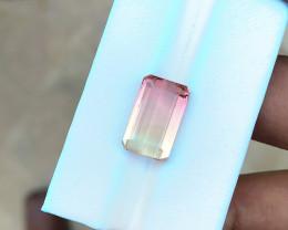 8.30 Ct Natural  Bi Color Transparent Tourmaline Loose Gem