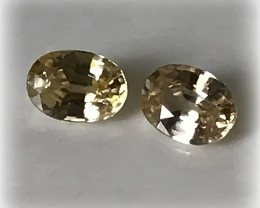 A pair of Champagne Zircon gems 8.0 x 6.00mm Jewellery grade stones
