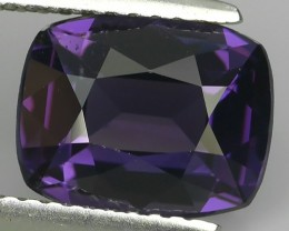 3.00 CTS COLLECTION-GEM SHOCKING MASTER CUSHION HOT VIOLET SPINEL AWESOME