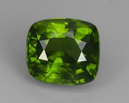 CERTIFIED~3.02 CT-WONDERFULL SPARKLING NATURAL ~BEST-GREEN~CUSHION ZIRCON!!