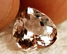STUNNING FANCY HEART SHAPE MORGANITE ~ 3.35cts ~  VVS ~ BRAZILIAN BEAUTY,