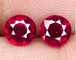 Superb 1.71ct Oval Shape Red Ruby Matching pair Madagascar.