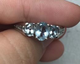 (B5) Magnificent Nat 7.75tcw. Top Quality Designer Aquamarine &Diamond