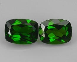 3.00 Cts Eye Catching Natural Rich Green Chrome Diopside Cushion ☆☆☆