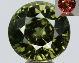 ~GORGEOUS~ 1.53 Cts Natural Color Change Garnet Green to Red Round Tanzania