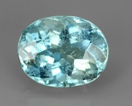 1.70 Cts Sparkling Luster - Oval Gem - Natural Blue -Aquamarine NR!!!