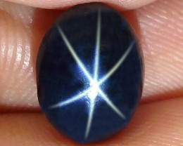 6.08 Carat Southeast Asian  Blue Star Sapphire - Gorgeous