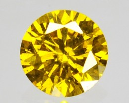 Natural Sparking Yellow Diamond 0.095 Cts Round Africa