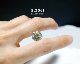 5.25ct Diamond Round Brilliant QR VS1 Certified