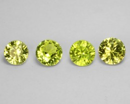 Cute Lemon Yellow Green Natural Chrysoberyl 5mm Round Parcel