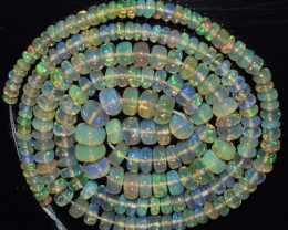 16.5 Inches Ethiopian Opal Beads Natural Welo Play Of Color OB89