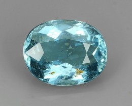 2.88 CTS EXQUISITE NATURAL UNHEATED OVAL BLUE AQUAMARINE NR!!!