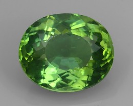 AWESOME 3.68 CTS AMAZING NATURAL RARE LUSTROUS GREEN APATITE NR!!