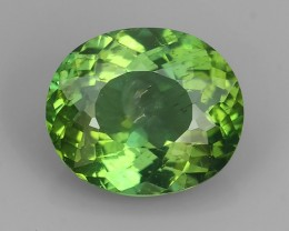 4.69 CTS WORLD CLASS RARE COLLECTION - 100 % NATURAL TOP GREEN APATITE OVAL