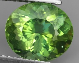 2.90 cts_Brazil_Natural_Top Green Hue_Excellent-Oval Cut_Apatite!!!