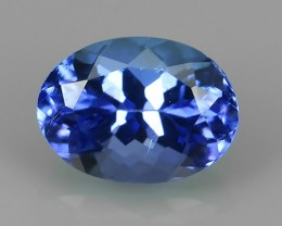 HUGE SPARKLE BLUE NATURAL TANZANIA TANZANITE OVAL EXCELLENT NR!!!