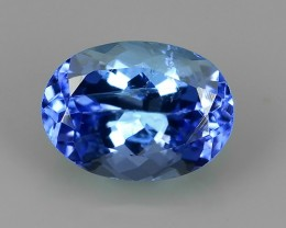 EXCELLENT SPARKLING TOP RICH NATURAL  BLUE TANZANITE