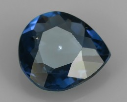 ~STUNNING FIRE RAREST-BLUE COLOR SPINEL PEAR-CUT NR!!!