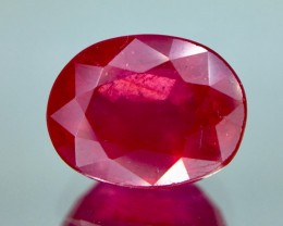 3.10 Crt Composite Ruby Glass Filled Faceted Gemstone (R 14)