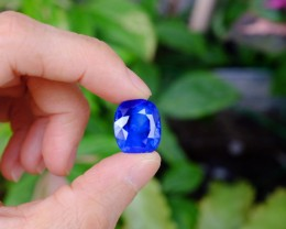 18.43ct Intense Cornflower Blue Sapphire Unheated