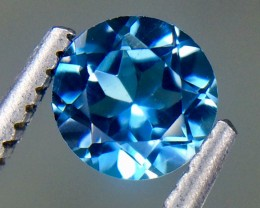 0.60 Crt Natural Topaz London Blue Faceted Gemstone (AG 45)
