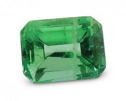 1.25 ct GIA Certified Colombian Emerald Cut Emerald