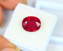 9.23Ct Blood Red Color Ruby Oval Cut Lot Z433