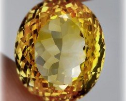 12.52 BRIGHT GOLDEN YELLOW TONED CITRINE  -