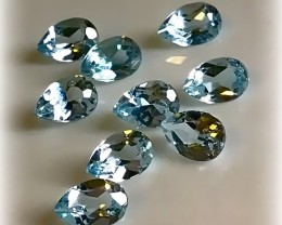 9 PIECE SKY BLUE TOPAZ GEM PARCEL FANTASTIC LOT