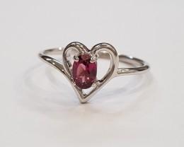 Rhodolite 925 Sterling silver ring #703
