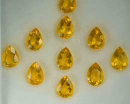 8.03 Cts Natural Yellowish Orange Fire Opal 8x6 mm Pear Cut 10Pcs Parcel Me