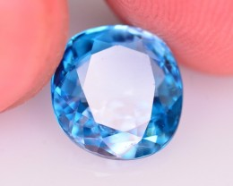 4.50 Ct Superb Color Natural Combodian~ Blue Zircon
