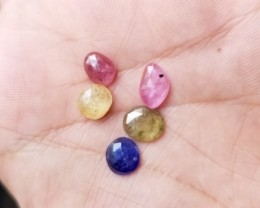 BEAUTIFUL MULTI SAPPHIRES ROSE CUT CLEAN A++Grade Natural VA84