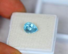 1.85ct Blue Aquamarine Pear Cut Lot V2129