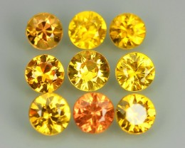 1.90 Cts Natural Intense Beautiful Yellow Sapphire Round Shape Madagascar