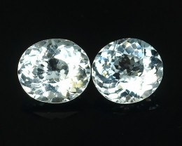1.70 Cts Natural Intense Beautiful Aquamarine Oval & Round Shape From A