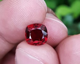 UNTREATED 1.97 CTS ANTIQUE CUSHION GORGEOUS RED SPINEL  MOGOK BURMA