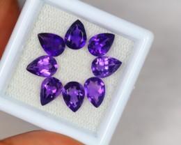 4.89ct Purple Amethyst Pear Cut Lot V2154
