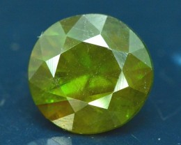 No Reserve -  3.30 cts Round Cut Cut Full Fire Sphene titanite From Skrdu P