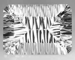 30.59 Cts Natural Sparkling White Quartz Millennium Cut Octagon Brazil