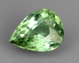 1.35 CTS AWESOME PEAR-NATURAL MINT GREENTOURMALINE FACET GENUINE