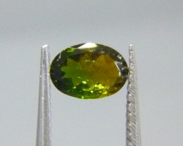 0.57ct Bi-Color Tourmaline , 100% Natural Gemstone